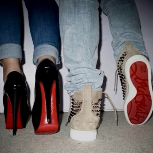 His And Hers Red Bottom Shoes